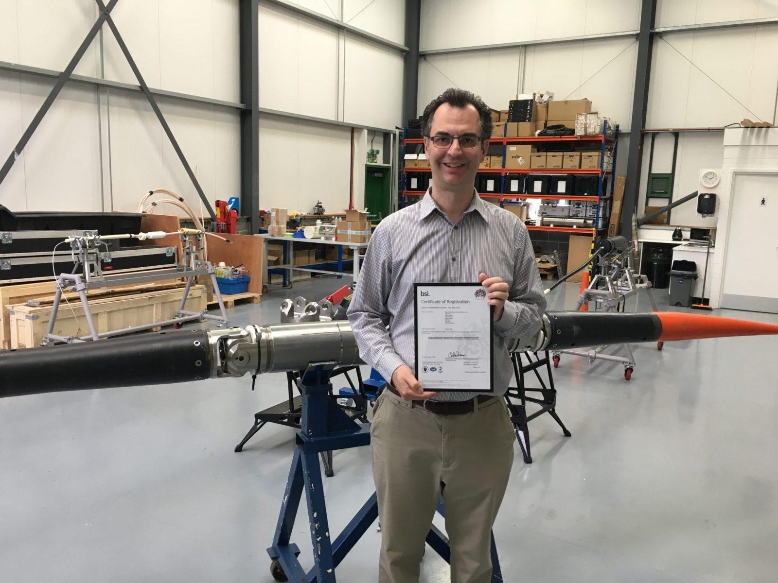 ISO9001:2015 award, June 2017
